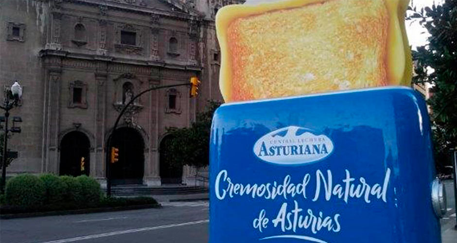 Campaña tostadoras gigantes por las calles de Gijón y Oviedo
